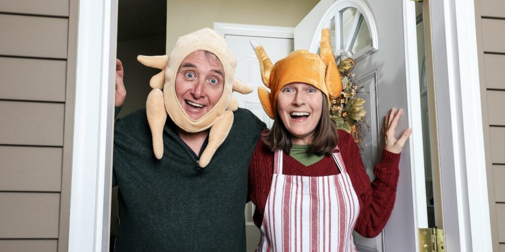 Family in Turkey Hats