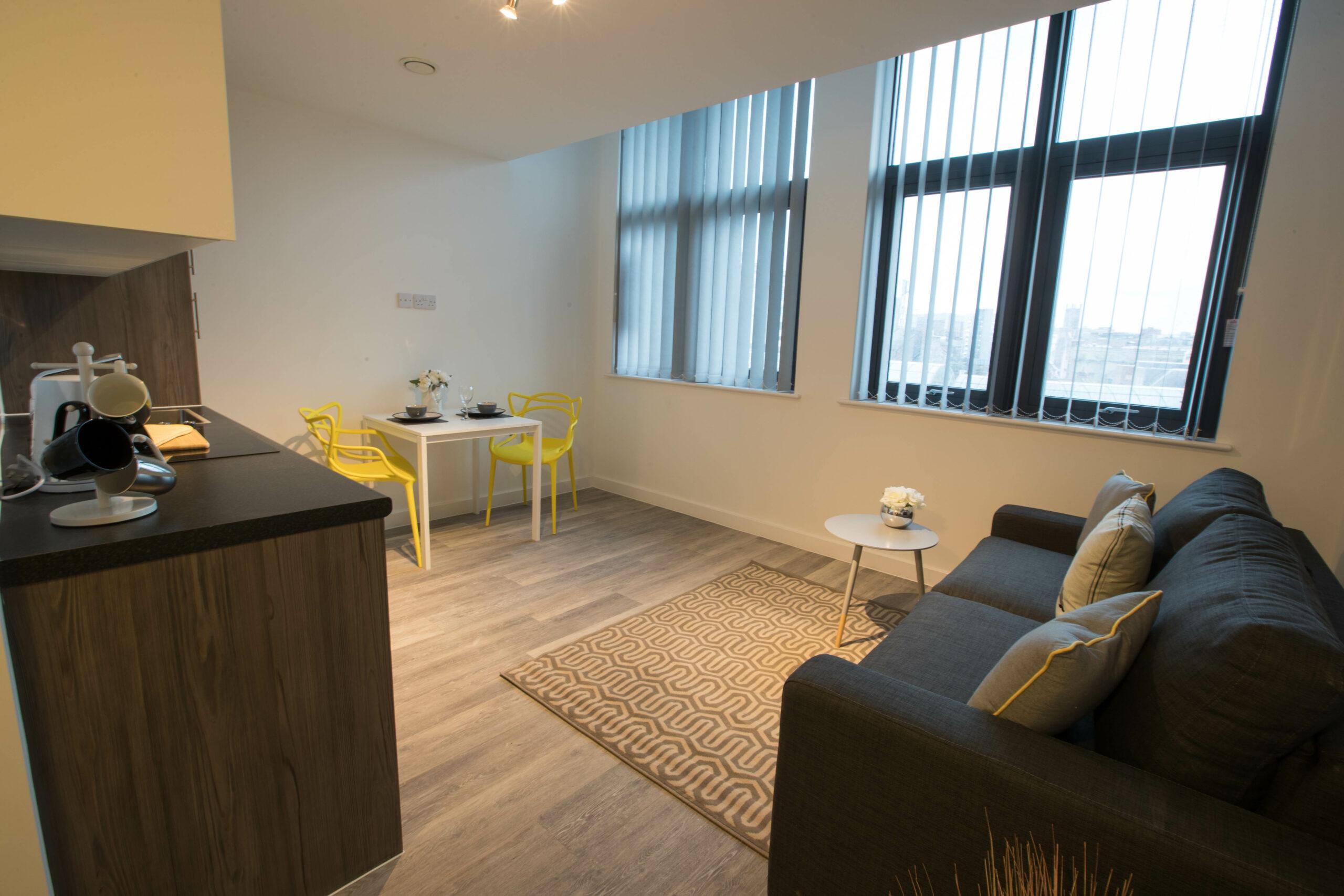 Parker Street Accommodation Living Area