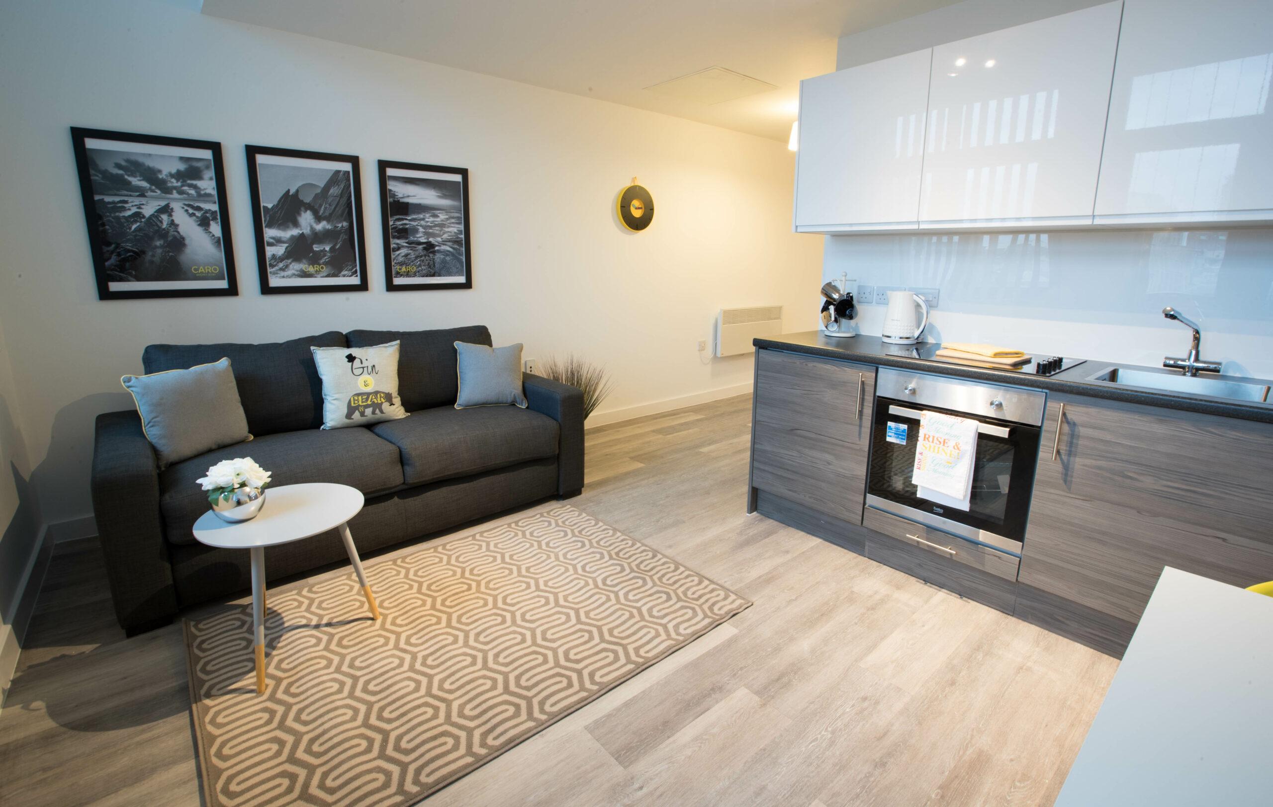 Parker Street Accommodation Living Kitchen