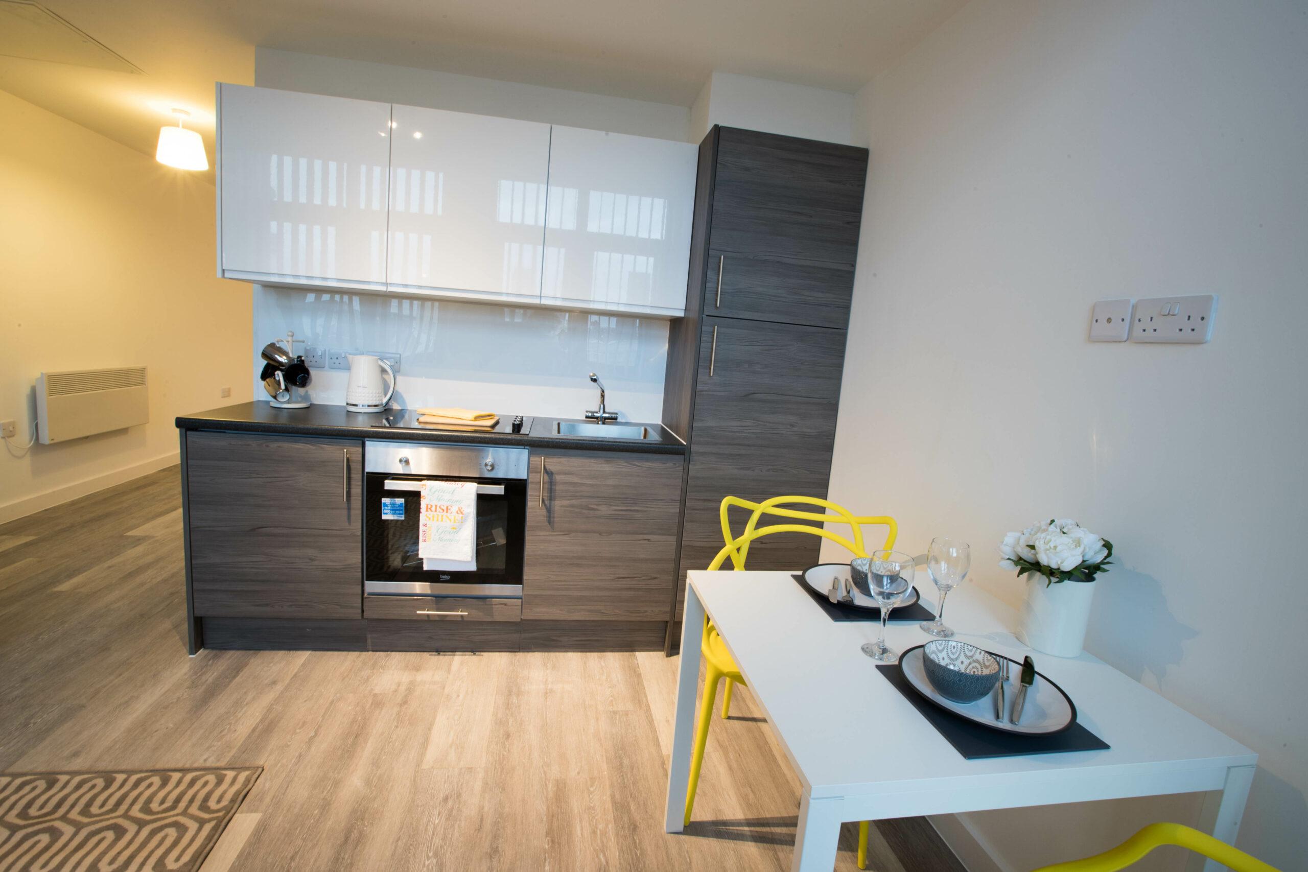 Parker Street Accommodation Kitchen