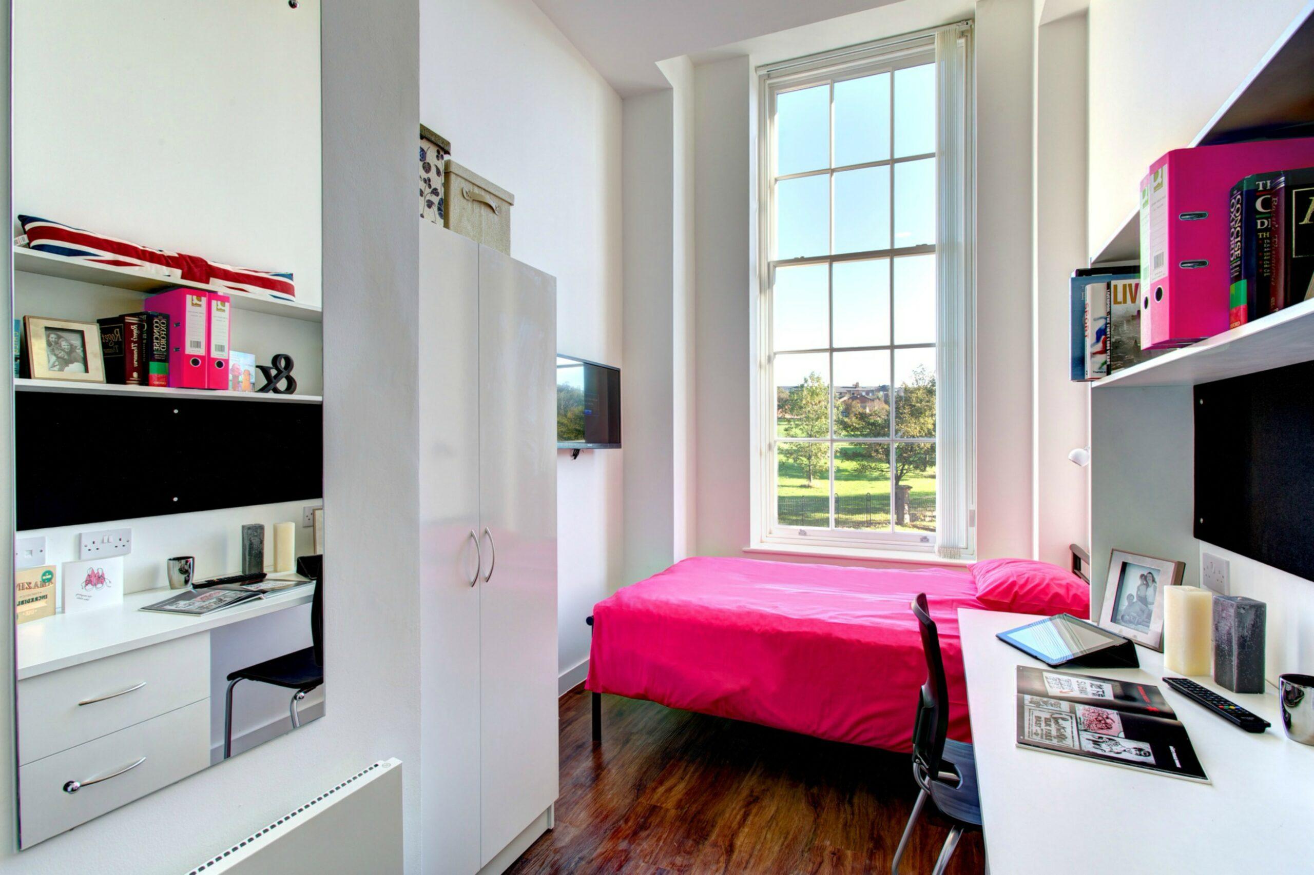 Student Studio Accommodation Bedroom