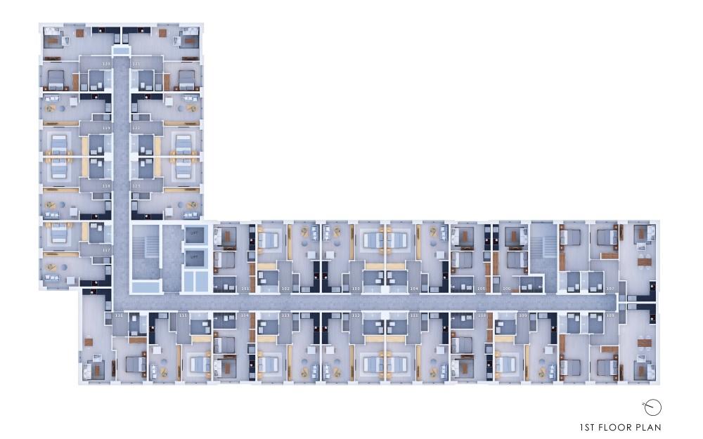 Poets Place - 1st Floor Plan