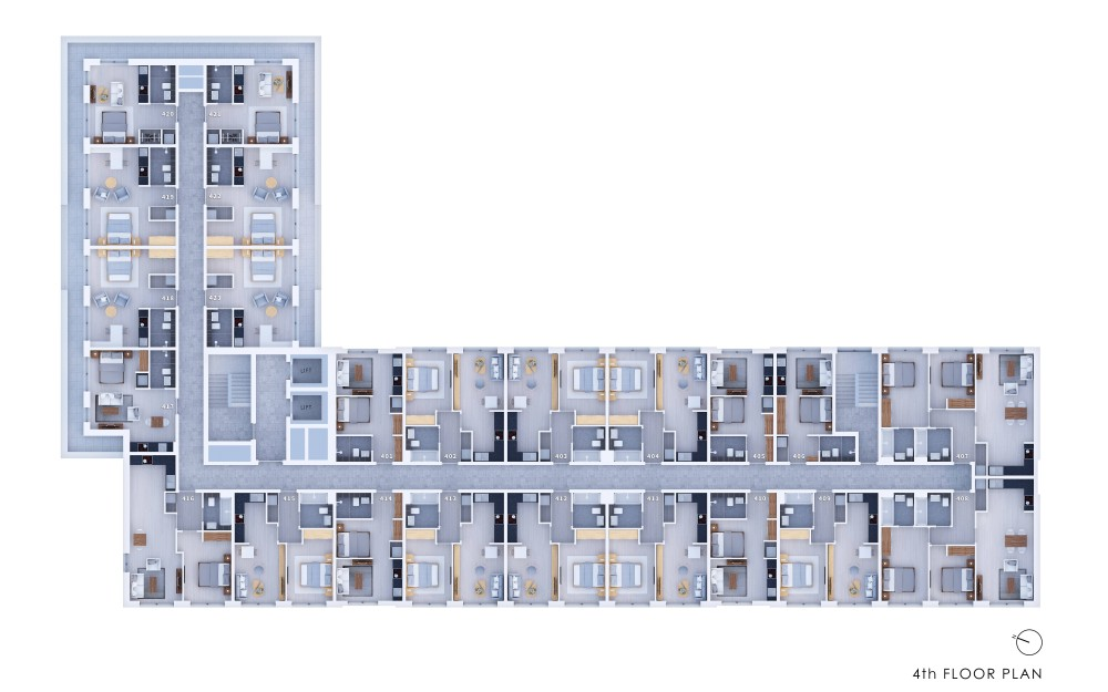 Poets Place - 4th Floor Plan