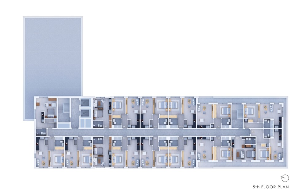 Poets Place - 5th Floor Plan