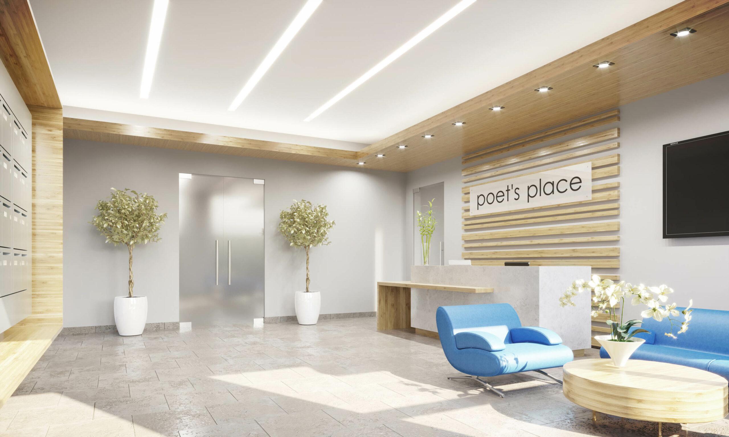 Poets Place Interior Lobby
