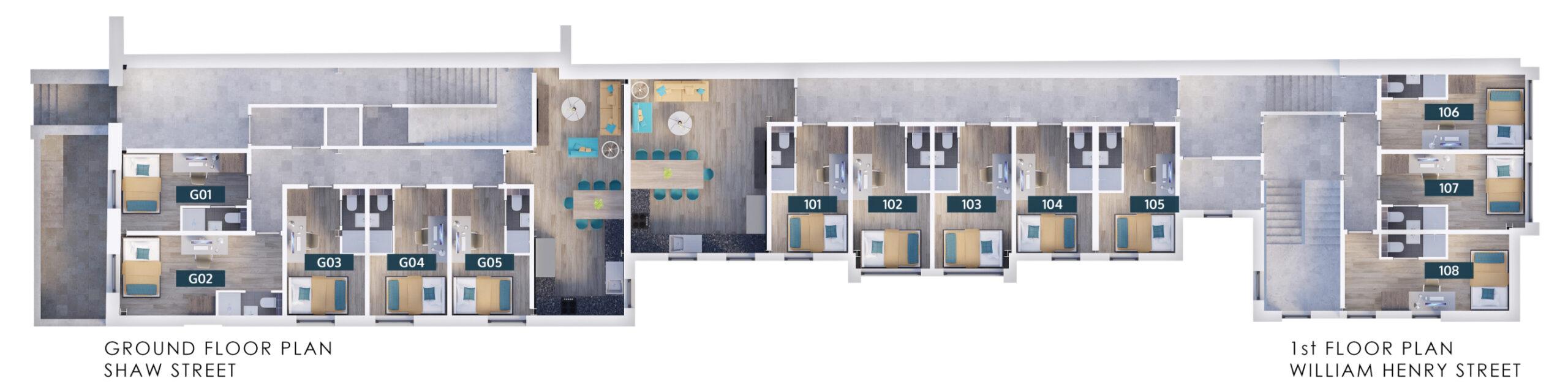 Shaw Street - Ground Floor Plan