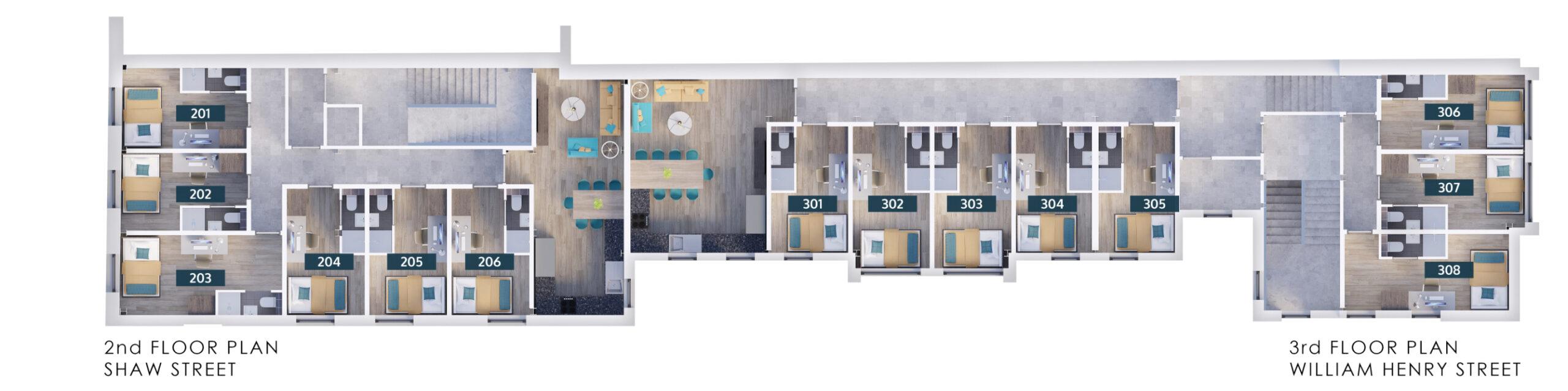 Shaw Street - Second floor plan