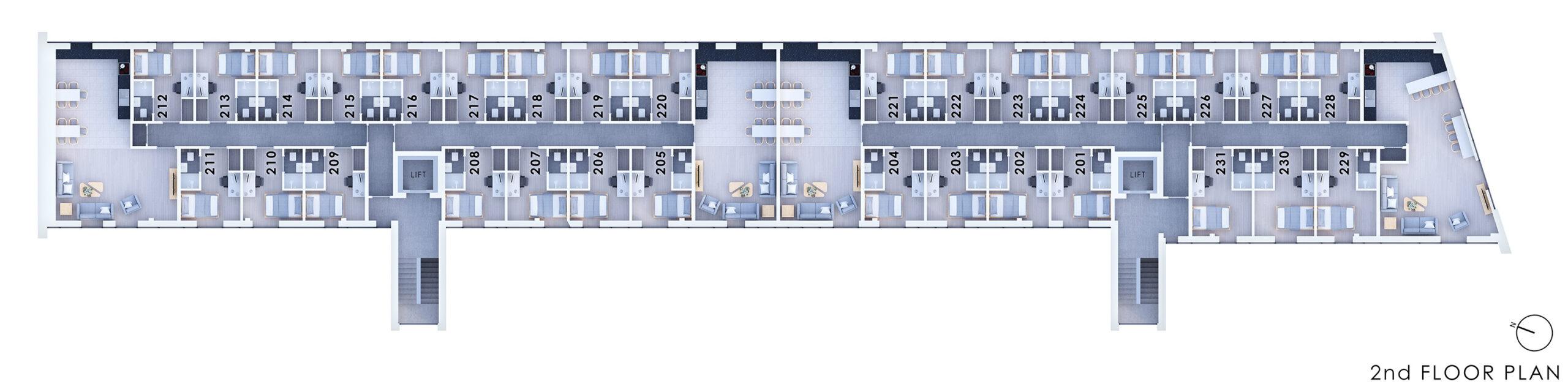 City Point 2nd Floor Plan
